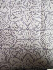 New Ralph Lauren White Beige Gray Damask Floral King Pillow Sham