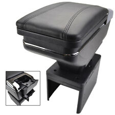 Leather Arm Rest Car Centre Console Armrest Storage Box Support Tray Organiser