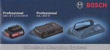 Bosch Set WIRELESS batteria 18V 2 Ah + CARICABATTERIE WIRELESS GAL 1830 W boch
