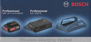 Bosch Set WIRELESS batteria 18V 2 Ah + CARICABATTERIE WIRELESS GAL 1830W