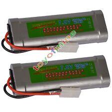 2 pcs 7.2V 5300mAH Ni-MH Rechargeable Battery Pack RC