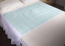 Comunità 85x135cms, lavabile e riutilizzabile ASSORBENTE Bed Pad con ali, letto matrimoniale