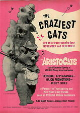 1970 ADVERT Aristocats Movie Craziest Cats Walt Disney Macy Orange Bowl Parade
