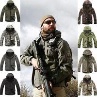 Shark Skin Soft Shell Men Military Tactical Jacket Hood Coat Pants Waterproof