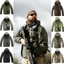 Shark Skin Soft Shell Men Military Tactical Jacket Hood Coat Pants Waterproof