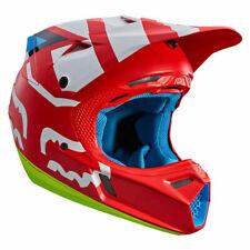 Casco Fox V3 creo Motocross MX-Rojo Enduro MTB BMX MIPS