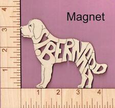 St. Bernard Dog laser cut and engraved wood Magnet
