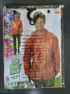 Chemise orange disco 70's en taille XL comme neuve portée 1 fois - Shirt