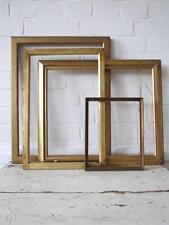 VINTAGE Art Deco muro in legno Cornici o CORNICI SET DI 4 ORO