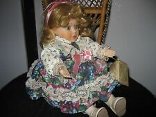 "Soft Expression Porcelone Musical Doll~ Adorable ~ Plays ""Love Story"""