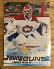 2019-20 Upper Deck Series 2 Cayden Primeau Young Guns Rookie! Montreal Canadiens