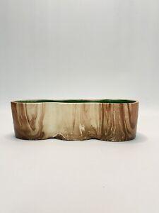 Vtg. ROMCO Rocky Mountain Brown Swirl Log Planter