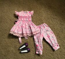Kaye Wiggs Msd Cutest Hand Smocked Top w/Pants + Shoes!
