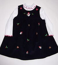 Goodlad  Pre-Owned Corduroy Jumper Dress & Top With Holiday Accents Size 24 Mo