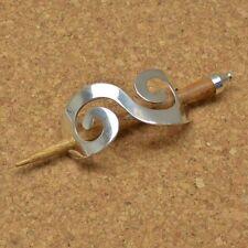 Haarspange Duttspange mit Stab Zopfspange Silber Keltisch - Spiral NEU