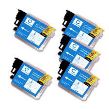 5 CYAN Ink Cartridge for Series LC61 Brother MFC 490CW 495CW 585CW J265w J270w