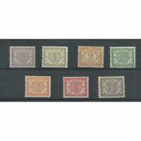 Suriname 41-47 Cijfer  MH/ongebr  CV 60 €