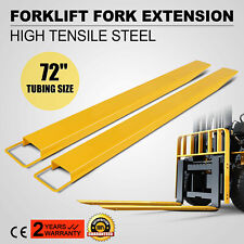 """72x5.8"""" Forklift Pallet Fork Extensions Pair Truck Steel Construction Heavy Duty"""