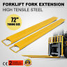 "72x5.8"" Forklift Pallet Fork Extensions Pair Truck Steel Construction Heavy Duty"