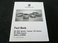 2007 Porsche FACT Book 911 Carrera Targa Turbo 997 GT3 RS Dealer-only Brochure