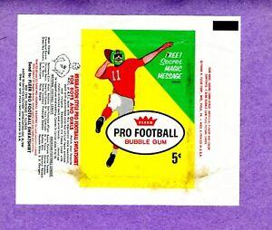 1961 Fleer Football 1st Series Wrapper