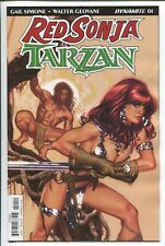 RED SONJA/TARZAN #1 - ADAM HUGHES MAIN COVER A - DYNAMITE ENTERTAINMENT/2018