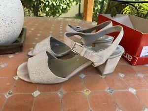 Ara Nubuck Sandals Block Heels , Sz41 Us9.5 EC