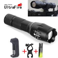 Ultrafire 50000LM T6 LED Flashlight 5Mode Focus Light Torch Lamp+18650 Batteries