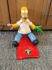 Homer Simpson Talking Sofa Couch Coach Retro Rare Toy Foam Hand Figure 2002