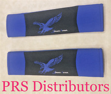 Seat Belt Cover Blue Black Cushion Shoulder Pads Auto Vehicle Padded 2 pieces