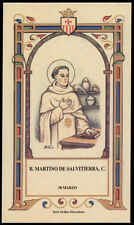 santino-holy card B.MARTINO DE SALVITIERRA mercedario