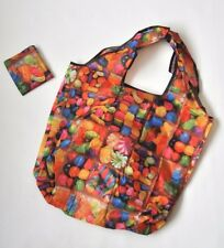 Eco Reusable Foldable Shopping Tote Bag Candy Rainbow Color US Seller