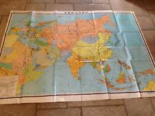 "Genuine Soviet-era Russian language middle school map of ""Eurasia'."