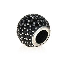 Genuine Pandora Silver and Black Pave Charm 791051NCK