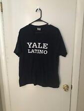 YALE UNIVERSITY LATINO SHIRT MENS LARGE BLUE S/S
