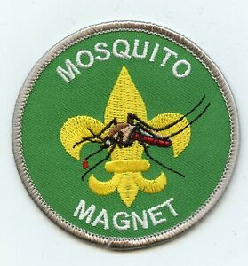 """""""Mosquito Magnet"""" Scoutmaster or Senior Patrol leader patch.  Joke/spoof patch"""