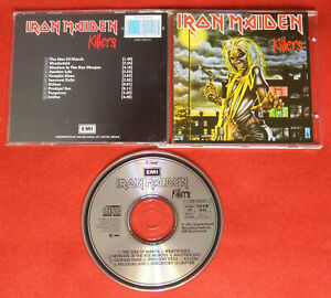 IRON MAIDEN Killers WEST GERMANY CD w NEU MINT rare 1press SONOPRESS Heavy Metal