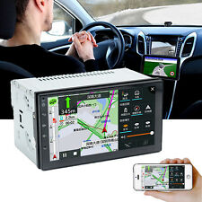 """7"""" WiFi Double 2 Din Car Radio Stereo MP5 Player GPS 3G 4G Quad Core Android 6.0"""