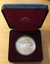 Canada 1985 Silver Dollar, KM-143, Proof, National Parks Centennial (Box5)