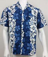 Royal Creations Mens Shirt Size Large Hawaiian Floral Button Front Short Sleeve