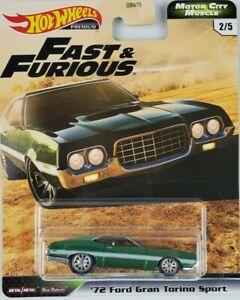 Hot Wheels Fast & Furious 72 Ford Gran Torino New 2020