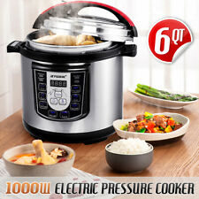 Multi-function 1000W 6L Electric Pressure Cooker Fast Cooking 8 Presets Timer