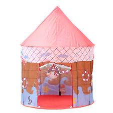 Play Tent Pirate Ship Boy Girl Red Roof Kids Cubby Pop Up House Indoor Outdoor