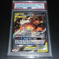 PSA 9 MINT Reshiram & Charizard GX SM201 SM Promo FULL ART Pokemon Card
