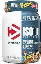 Dymatize ISO100 Hydrolyzed Protein Powder, 100% Whey, 1.6 Lbs, Fruity Pebbles