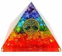 Extra Large 70-75 MM Multi 7 Chakra Orgonit Pyramide Kristall Baum des Lebens
