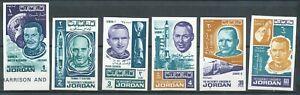 JORDAN 1966 SPACE ACHIEVEMENTS IMPERF SET MNH BIN PRICE GB£2.75