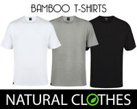 Bamboo T-Shirt Round Crew Neck Short Sleeve Tee Slim Fit Mens Natural Clothes