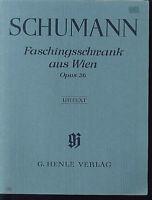 Schumann - Faschingsschwank aus Wien Op. 26 ~ Urtext