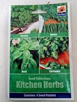 225 Seeds KITCHEN Vegetable & Herb Set Basil Chives Coriander Parsley DE REE